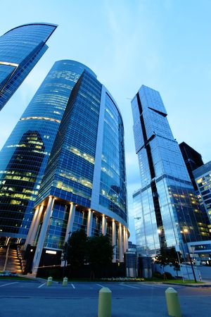 Modern skyscrapers at night. Moscow City. Russia. Stock Photo - 5450797