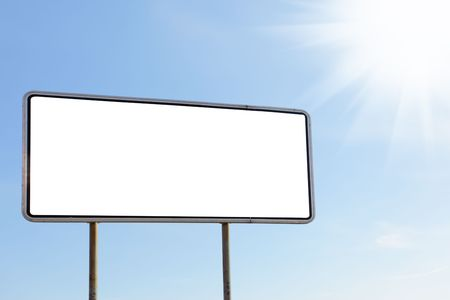 Blank billboard against blue sky, put your own text here Stock Photo - 5478921