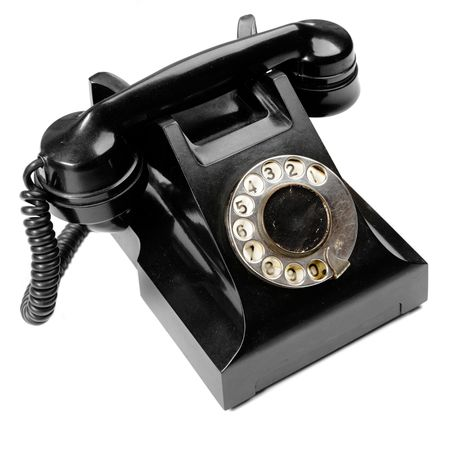 Vintage phone isolated over the white background Stock Photo - 5478930