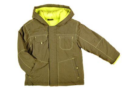 children's wear: Childrens wear - jacket isolated over white background