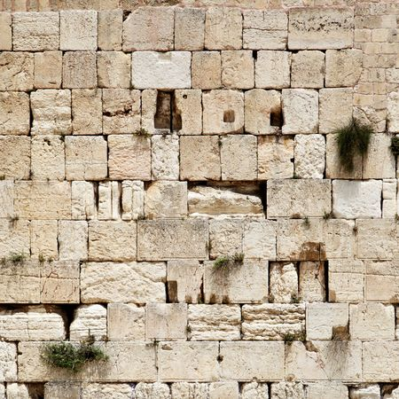 Western wall close-up (Wailing Wall). Jerusalem. Israel. photo