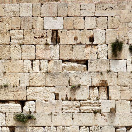 wailing: Western wall close-up (Wailing Wall). Jerusalem. Israel.