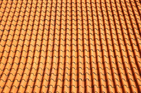 Old red tiled roof, may be used as background Stock Photo - 5762247
