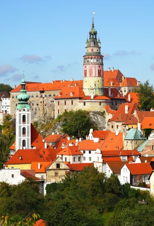 Summer view of Cesky Krumlov. Czech republic Stock Photo - 5804199