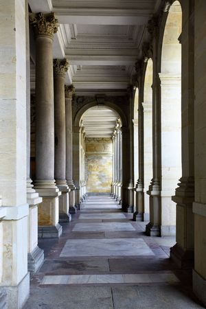 karlovy: Colonnade with thermal water at Karlovy Vary, Czech Republic