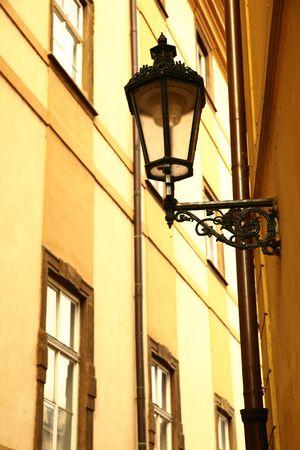 Old lantern at narrow street at Prague, Czech Stock Photo - 5804249