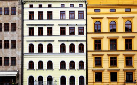 Old colorful buildiugs at Prague, Czech Republic Stock Photo - 5949958