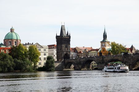 Charles bridge and cityscape of Prague, Chech republic Stock Photo - 6056776