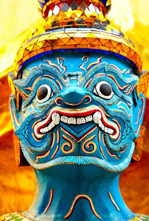 Demon statue at the temple Wat Phra Kaeo. Bangkok. Thailand Stock Photo - 6185436