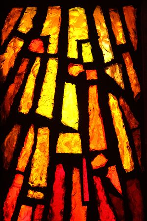 stained glass church: Multicolored stained glass, may be used as background Stock Photo