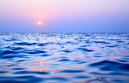 Sea at sundown, may be used as background Stock Photo - 6233860