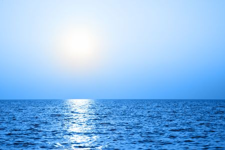 ocean view: Sea and sky, may be used as background