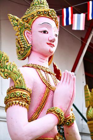 Kinnara statue - a kind of Thai mythological creature Stock Photo - 6313447