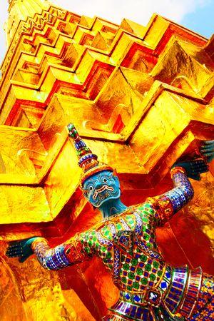 Gold stupa Wat Phra Kaeo temple. Bangkok. Thailand. Stock Photo - 6362688