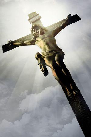 kruzifix: Die Kreuzigung - die Jesus am Kreuz
