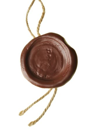 mandate: Wax seal isolated over a white background