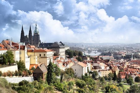 czech culture: View on the Prague castle, Chech republic Stock Photo