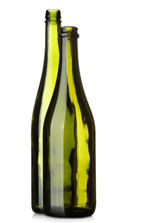 Wine bottles isolated over the white background Stock Photo - 6540660