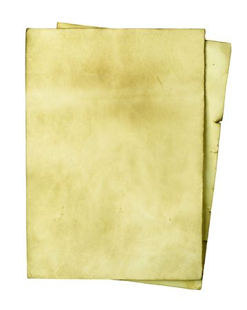 Old papers isolated over white background photo