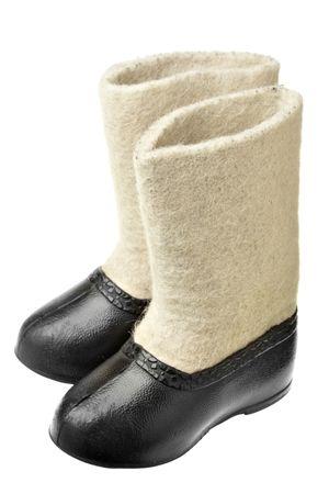 valenki: Childrenss valenki - traditional russian felt footwear
