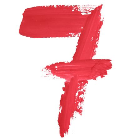 7 - Color numbers isolated over the white background photo
