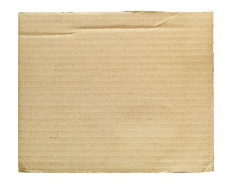 bribe: Morceau de carton isol� sur le fond blanc