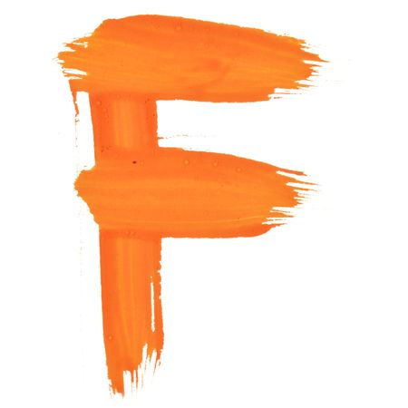 F - Color letters isolated over the white background Stock Photo - 6773701