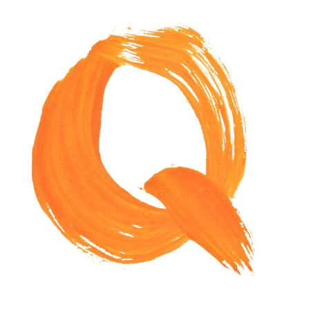Q - Color letters isolated over the white background Stock Photo - 6773706
