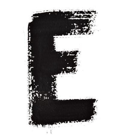 e ink: E - Ink letters isolated over the white background