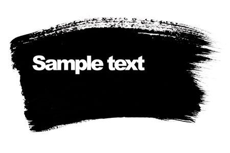 paint samples: Black brush stroke with space for your own text Stock Photo
