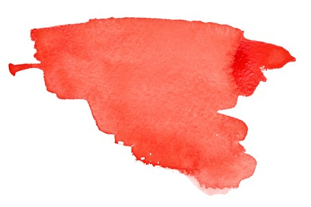 Red watercolor brush strokes with space for your own text Stock Photo - 6968812