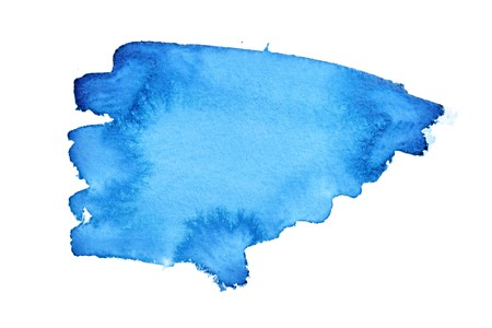 Blue watercolor brush strokes with space for your own text photo