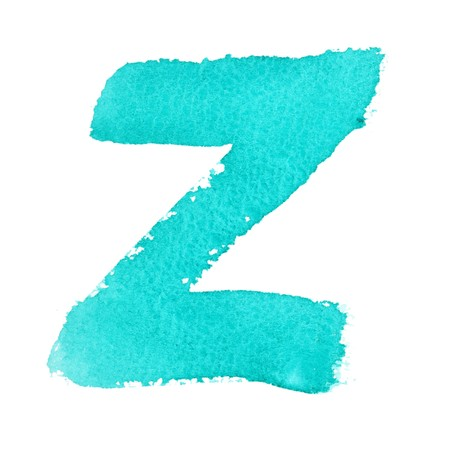 Z - Watercolor letters isolated over the white background