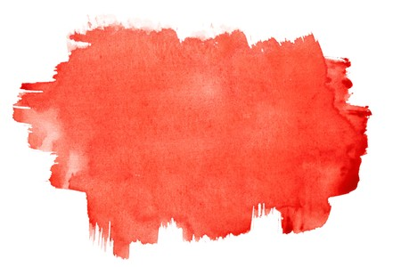 Red watercolor brush strokes, may be used as background Stock Photo - 7036375