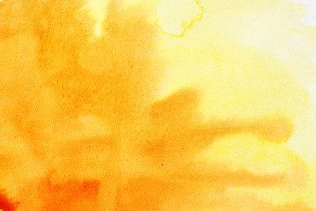 Orange watercolor brush strokes, may be used as background Stock Photo - 7036373