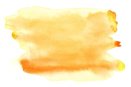 Yellow watercolor brush strokes, may be used as background photo