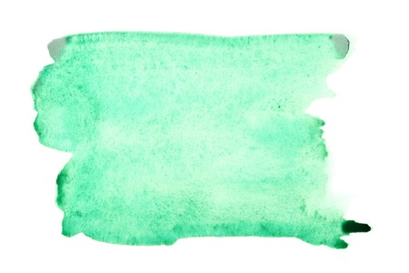 Green watercolor brush strokes with space for your own text photo