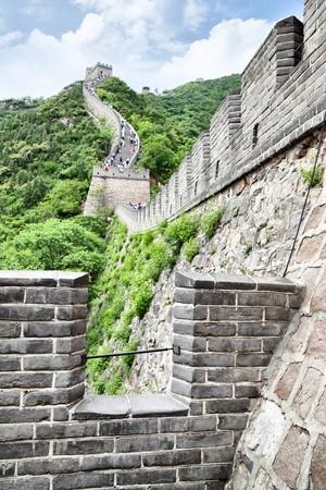 badaling: Il grande muro a Badaling vicino a Pechino
