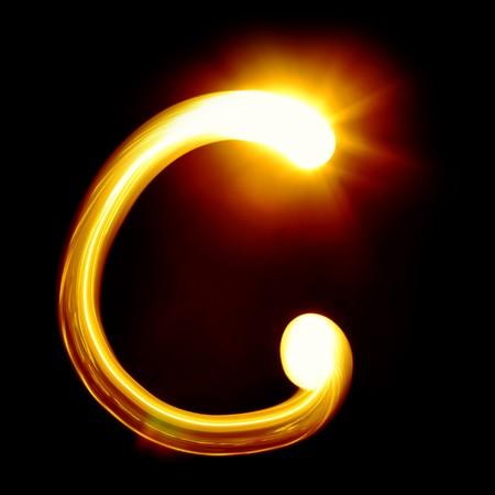 lettre de l alphabet: Cr�� par alphabet lumi�re sur fond noir