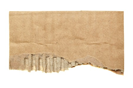fragments: Scrap of cardboard isolated over the white background Stock Photo