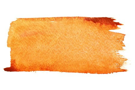 brush stroke: Orange watercolor brush strokes with space for your own text Stock Photo