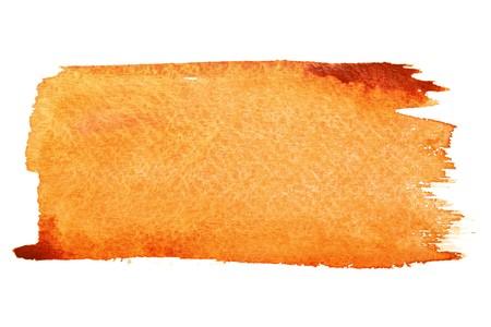 beroerte: Oranje aquarel penseelstreken met ruimte voor uw eigen tekst