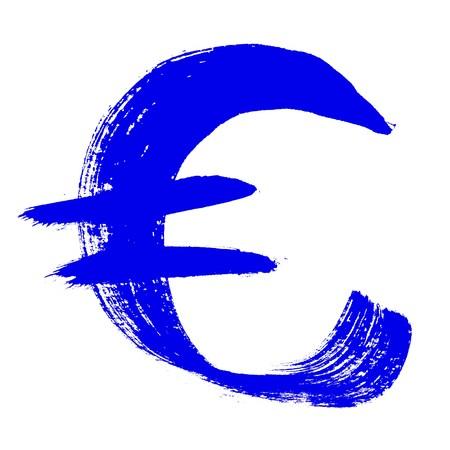 educaton: Colorful alphabet - euro sign over the white background