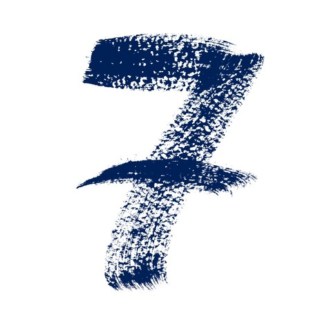 7 - Colorful numbers isolated over the white background photo