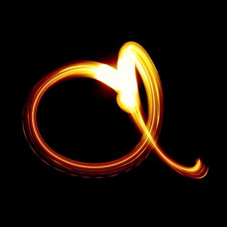 create: A - creato da luce alfabeto - carattere minuscolo