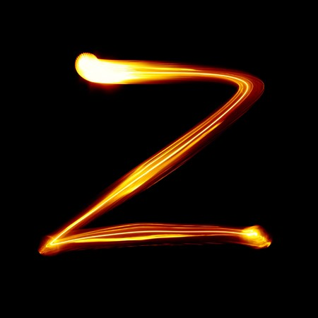 educaton: Z - Created by light alphabet - lower case character
