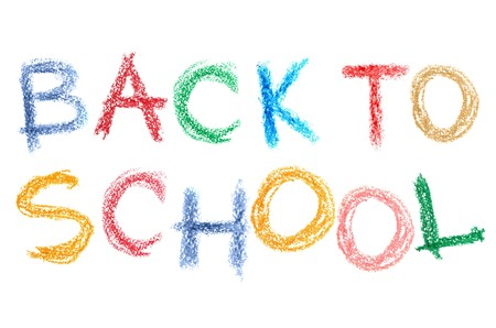 Back to school text over white background Stock Photo - 7579518