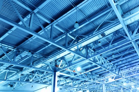 Ceiling of storehouse toned in the blue color Stock Photo - 7613098
