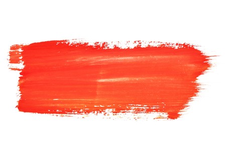 brush drawing: Red watercolor brush strokes with space for your own text