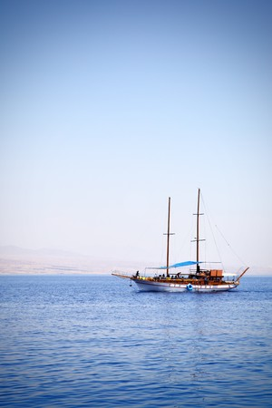 White sailing yacht at the Red sea  Stock Photo - 7685616